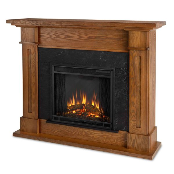 Kipling Electric Fireplace in Burnished Oak by Real Flame 1