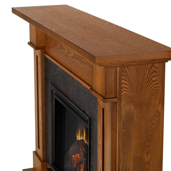 Kipling Electric Fireplace in Burnished Oak by Real Flame 3