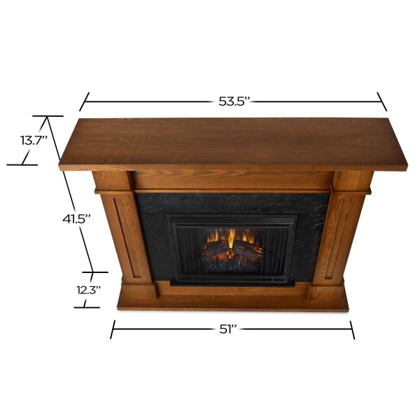 Kipling Electric Fireplace in Burnished Oak by Real Flame 4