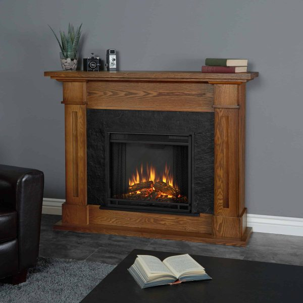 Kipling Electric Fireplace in Burnished Oak by Real Flame