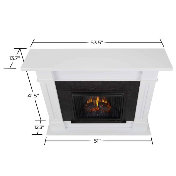 Kipling Electric Fireplace in White by Real Flame 1