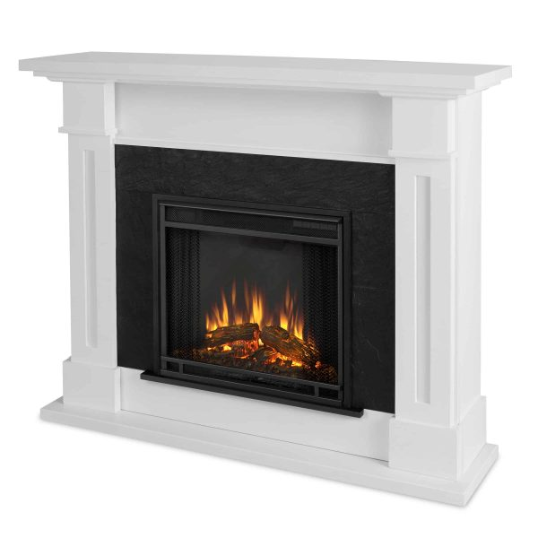 Kipling Electric Fireplace in White by Real Flame 2