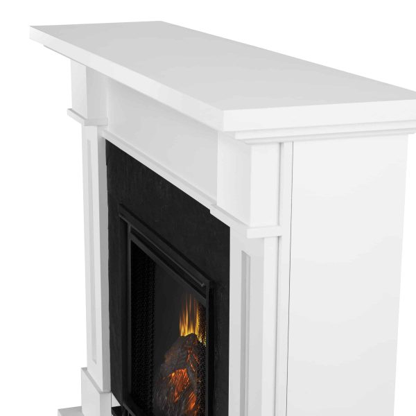 Kipling Electric Fireplace in White by Real Flame 4