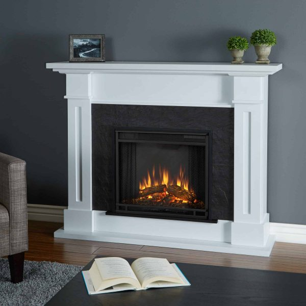 Kipling Electric Fireplace in White by Real Flame
