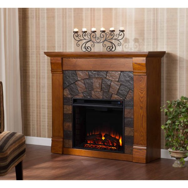 Kolfyre Electric Fireplace, Salem Antique Oak 3