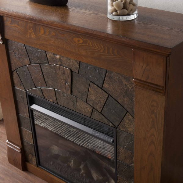 Kolfyre Electric Fireplace, Salem Antique Oak 5