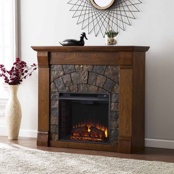Kolfyre Electric Fireplace, Salem Antique Oak 6