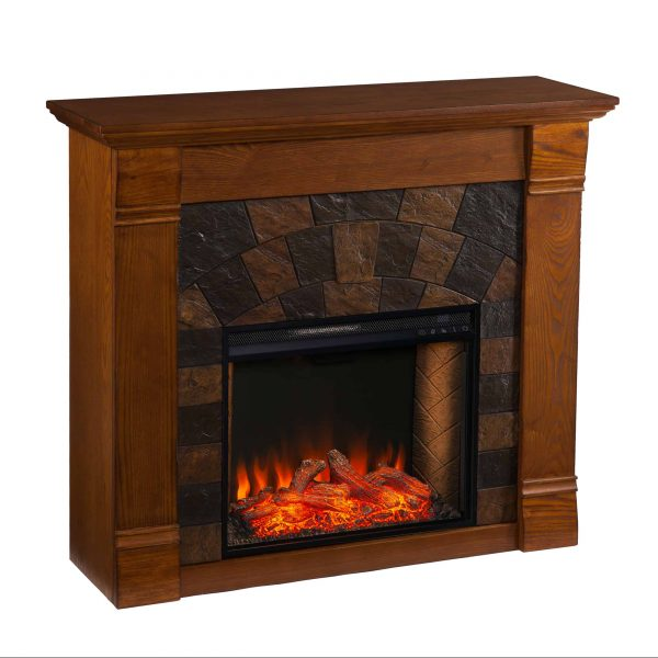 Kolfyre Faux Stone Smart Electric Fireplace 1