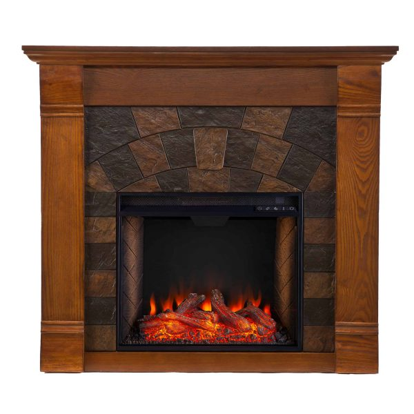 Kolfyre Faux Stone Smart Electric Fireplace 2