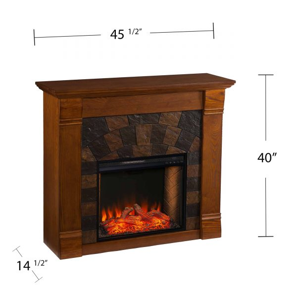 Kolfyre Faux Stone Smart Electric Fireplace 3