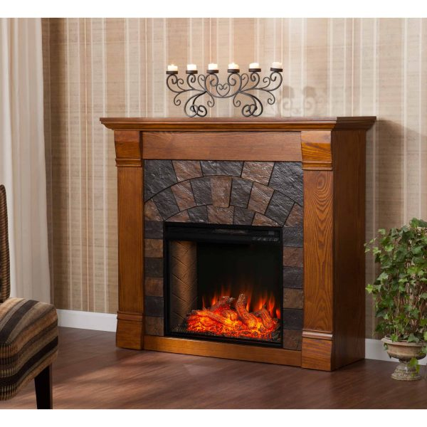 Kolfyre Faux Stone Smart Electric Fireplace 6