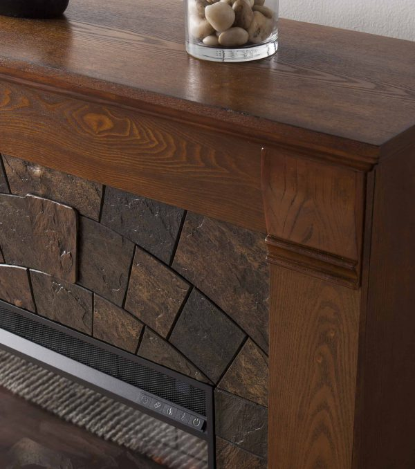 Kolfyre Faux Stone Smart Electric Fireplace 7