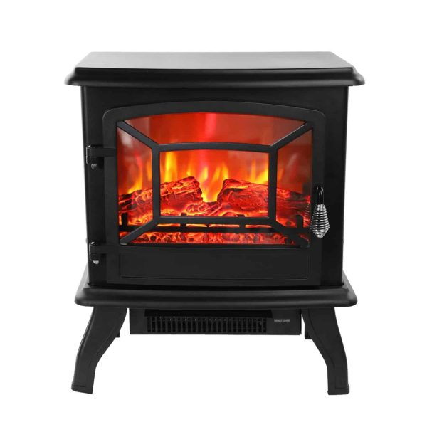 "Ktaxon 17"" Electric Fireplace Heater FreeStanding Fire Flame Stove"