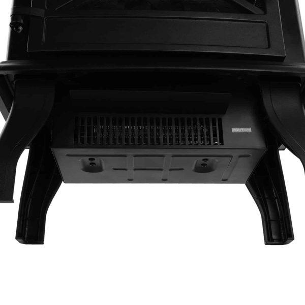 "Ktaxon 17"" Freestanding Black Portable Electric Fireplace Heater 3D Flames Firebox w/ Logs,CSA Listed 1"