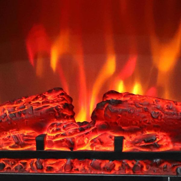 "Ktaxon 17"" Freestanding Black Portable Electric Fireplace Heater 3D Flames Firebox w/ Logs,CSA Listed 3"