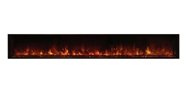 """Landscape Clean Face Fullview Built-In Electric Fireplace - 120"""" x 15"""""""