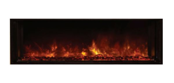 """Landscape Clean Face Fullview Built-In Electric Fireplace - 60"""" x 15"""""""
