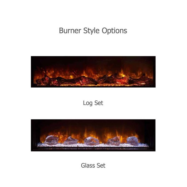 """Landscape Clean Face Fullview Built-In Electric Fireplace - 80"""" x 15"""" 2"""