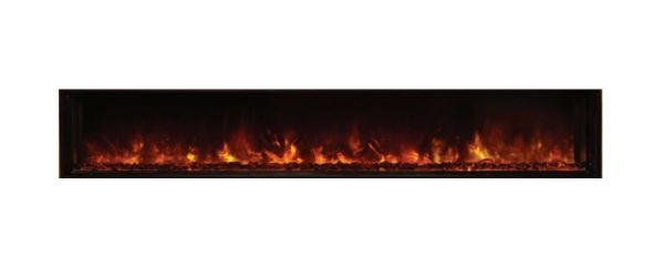 """Landscape Clean Face Fullview Built-In Electric Fireplace - 80"""" x 15"""""""