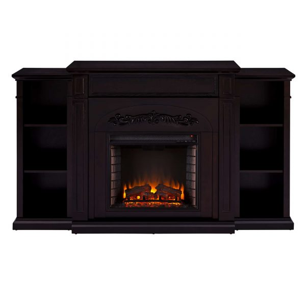 Landsmill Electric Fireplace w/ Bookcases 2