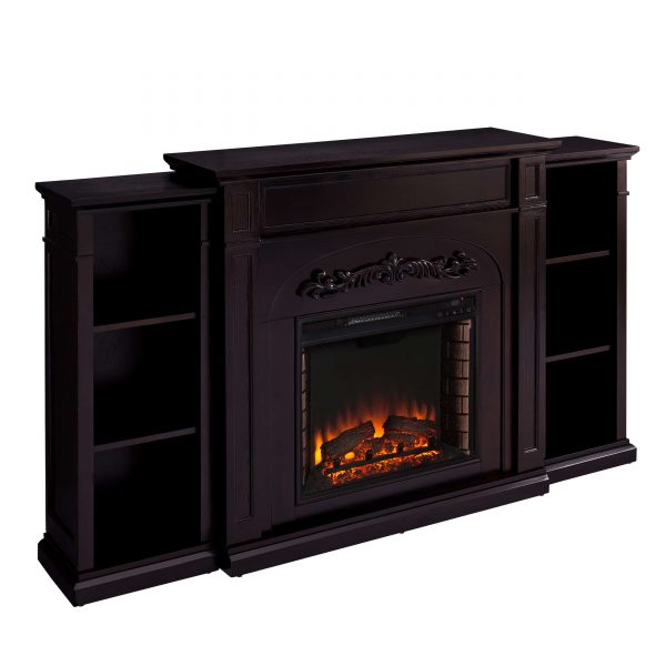 Landsmill Electric Fireplace w/ Bookcases 3