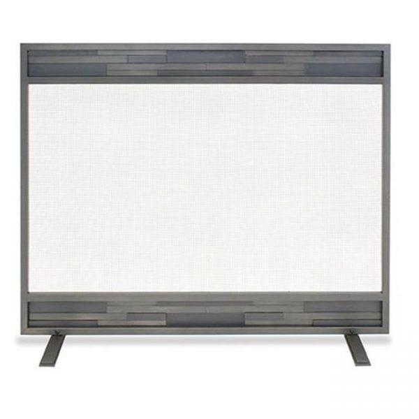 Lanier Single Panel Screen - Natural Iron