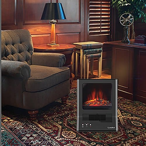 Lasko CA20100 Ultra Ceramic Fireplace Heater, Black 1