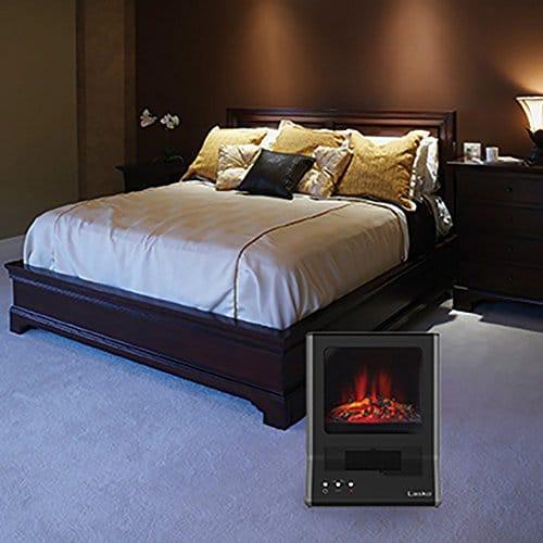 Lasko CA20100 Ultra Ceramic Fireplace Heater, Black 2