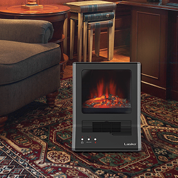 Lasko Ultra Ceramic Electric Fireplace Space Heater 2