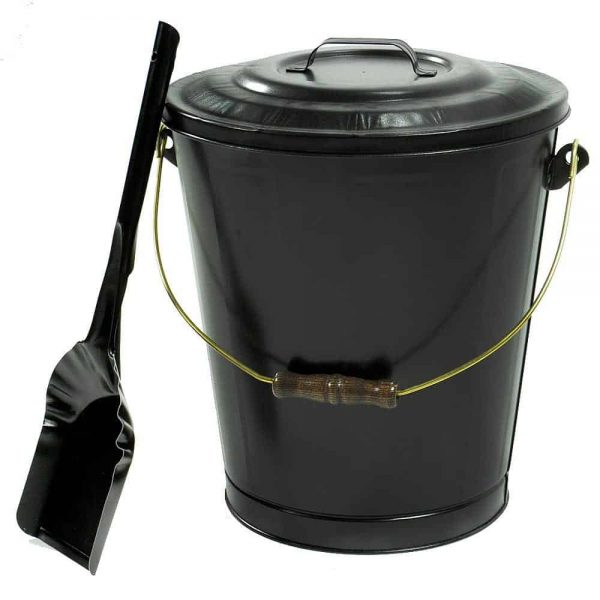 Lasting Traditions Powder Coated Steel Ash Container and Shovel Set Indoor 1