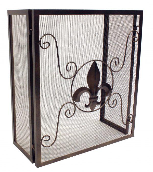 Leigh Country Fleur De Lis Fireplace Screen 1