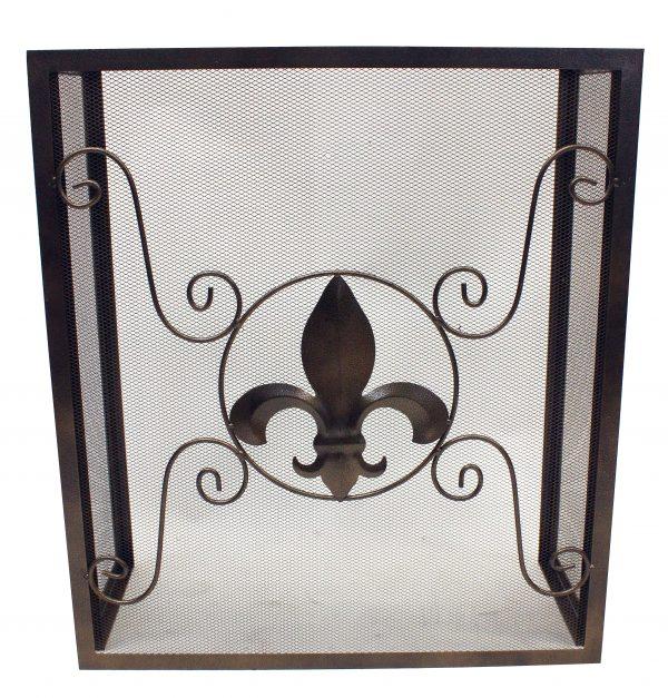 Leigh Country Fleur De Lis Fireplace Screen