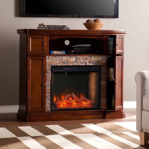 Lellermann Alexa Smart Fireplace Cabinet 8