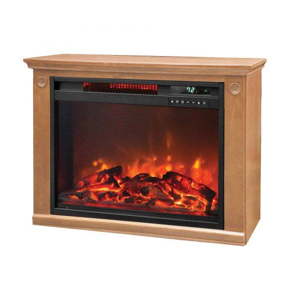 LifeSmart 1500 Watt Large Infrared Quartz Electric Portable Fireplace Heater 1