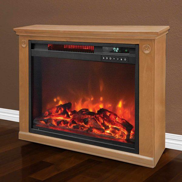 LifeSmart 1500 Watt Large Infrared Quartz Electric Portable Fireplace Heater 2