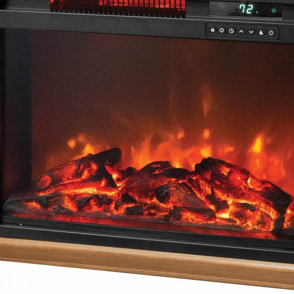 LifeSmart 1500 Watt Large Infrared Quartz Electric Portable Fireplace Heater 3