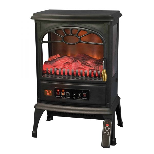 LifeSmart 1500W Large Room 3-Sided Portable Electric Infrared Stove Space Heater 1