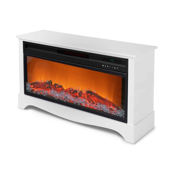 LifeSmart LifeZone Electric Infrared Quartz Standing Fireplace Heater