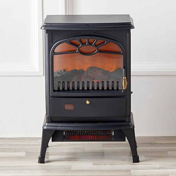 Lifesmart 3-Sided Dual Element Stove Fireplace with Flip Down Door and Remote 1