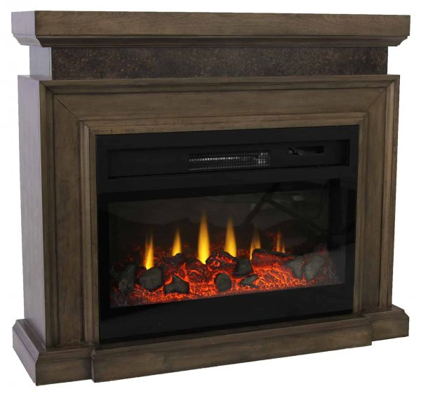 "Lifesmart 38"" Mantel Fireplace with 3D Flame and Remote Control 2"