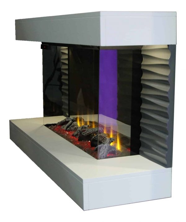 """Lifesmart 44"""" Contemporary Wall Mounted Infrared Fireplace with Multi Color Ember Bed and Remote Control 2"""
