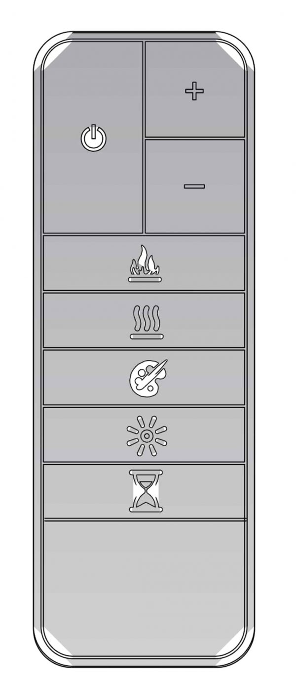 """Lifesmart 44"""" Contemporary Wall Mounted Infrared Fireplace with Multi Color Ember Bed and Remote Control 3"""