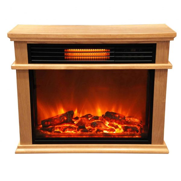 Lifesmart Extra Large Mantle Fireplace with Infrared Elements and Remote 2