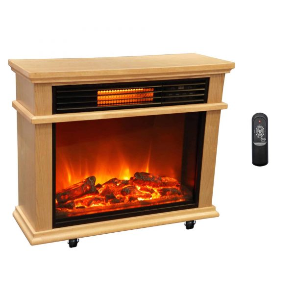 Lifesmart Extra Large Mantle Fireplace with Infrared Elements and Remote