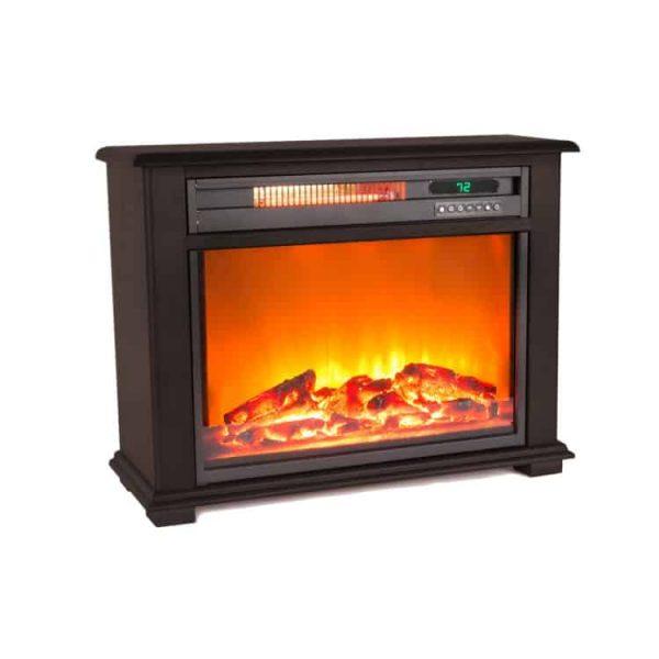 Lifesmart Infrared Medium Infrared Dark Oak Fireplace with Remote 1