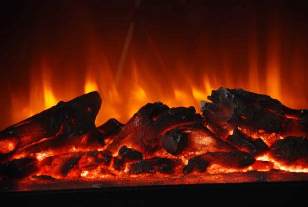 Lifesmart Infrared Medium Infrared Dark Oak Fireplace with Remote 3