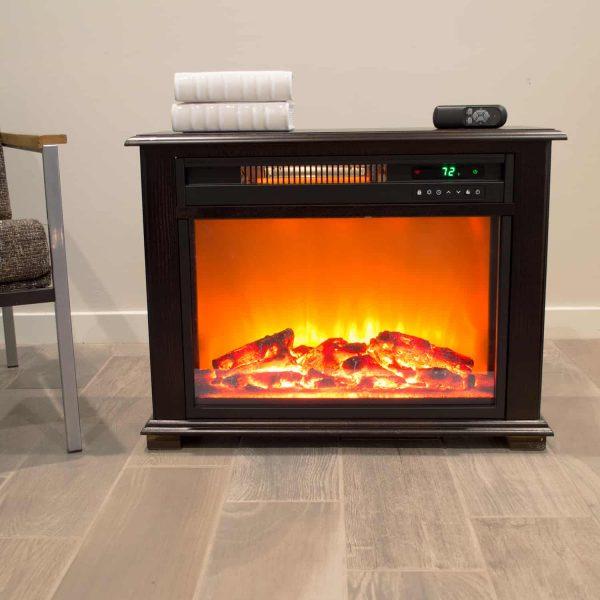 Lifesmart Infrared Medium Infrared Dark Oak Fireplace with Remote 4