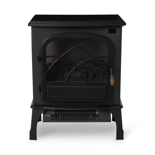 Limina Indoor Electric 1500W Stove Fireplace Infrared Quartz Space Heater, Black 1