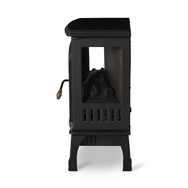 Limina Indoor Electric 1500W Stove Fireplace Infrared Quartz Space Heater, Black 2