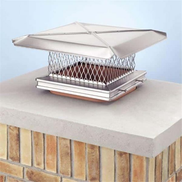 Lindemann 100188 Gelco 8 Inch x 8 Inch Stainless Steel Chimney Cover